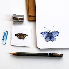 butterfly letter writing set