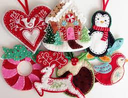 12 patterns to make felt ornaments felt