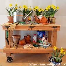 Gardening Table Build A Potting Bench Or Garden Buffet Table Pottery Barn Abbott