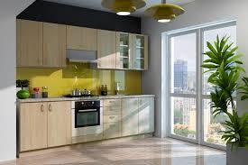 küche eiche hell küche sonoma 260 cm küchenzeile küchenblock variabel