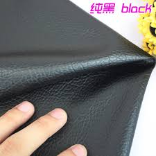 Car Interior Upholstery Fabric Aliexpress Com Buy Black Big Lychee Pattern Pu Synthetic Leather