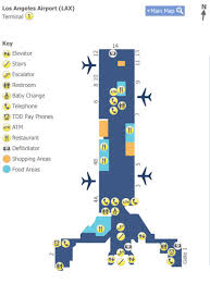 lax gate map los angeles airport lax terminal 1 map map of terminal 1 at