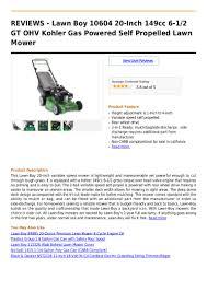 lawn boy 10604 20 inch 149cc 6 1 2 gt ohv kohler gas powered self pro u2026