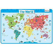 kids placemats world map educational kids placemats non slip