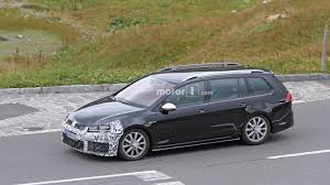 volkswagen wagon 2017 vw golf r variant facelift conducts brake tests