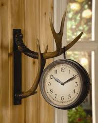 amazon com chsgjy deer park antler wall clock two sided metal