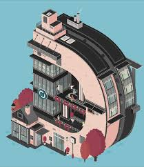 quirky architectural gifs that turn letters into buildings wired