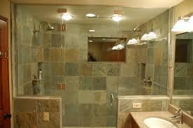 diagonal black slate floor mixed shower brown ceramic tile cubical