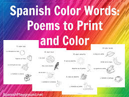 printable spanish poems for kids archives spanish playground