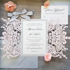 melissa glitter blush laser cut wedding invitation with silver