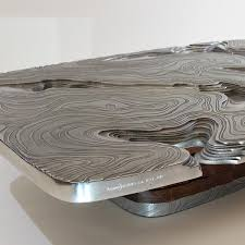 Aluminum Coffee Table Hypsometrique Aluminum Coffee Table By Armand Jonckers Galerie