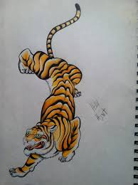 my traditional tiger by clearfishink on deviantart