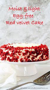 egg free red velvet cake eggless red velvet cake with cream