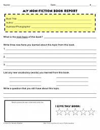 book report template 5th grade book report forms 5th grade form 3rd exles 8th 6th outline