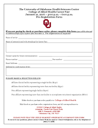 2016 job fair registration form the university of oklahoma free