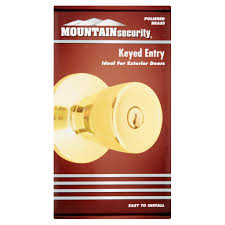 mountain security keyed entry tulip polished brass walmart com