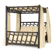 rustic canopy bed la lune collection rustic canopy bed king 4178 shown in ebony premium finish on bark