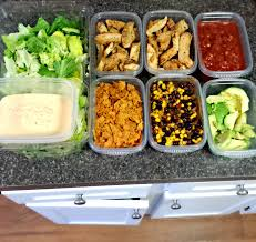 food prep meals lunch food prep southwest salad simply taralynn