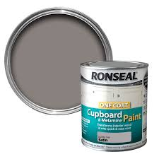 ronseal granite grey satin cupboard paint 750 ml departments