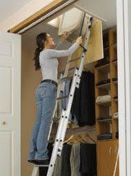 telestep 1000l 10 ft aluminum telescoping attic ladder home