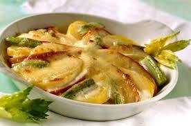 cuisiner celeri branche gratin de pomme et céleri à la mozzarella