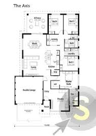 The Equinox Floorplan 17m Frontage 4x2 Alfresco Large Kitchen Centralized Kitchen Floor Plans