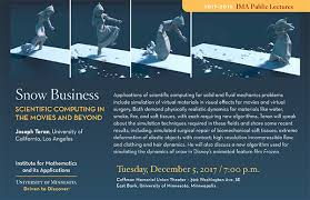 snow business scientific computing in the movies and beyond