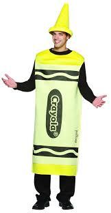 yellow crayola crayon mens fancy dress book week costume