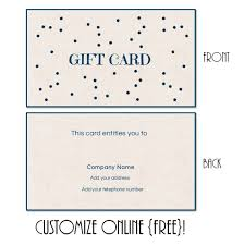 gift card online gift card template