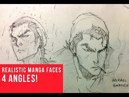 4 angles drawing realistic manga faces youtube