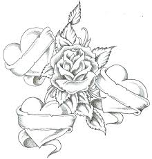coloring pages of roses coloring pages roses and hearts skulls and