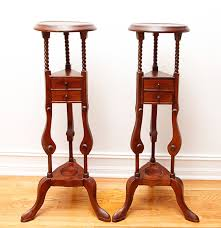 dutch colonial style indonesian dutch colonial style mahogany plant stands ebth