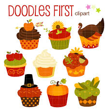 thanksgiving paper crafts thanksgiving autumn cupcakes digital clip art for scrapbooking