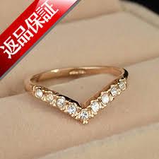 v shaped ring lilimia rakuten global market v shaped ring ring swarovski k18