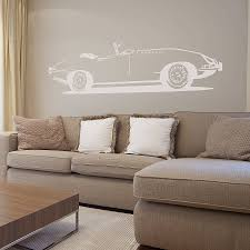 e type sports car vinyl wall sticker by oakdene designs e type sports car vinyl wall sticker
