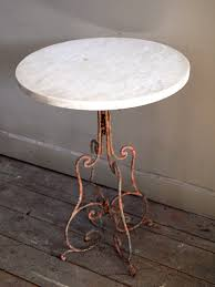 Oval Bistro Table Marble Top Bistro Table Puckhaber Decorative Antiques