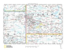 Map South Dakota Cheyenne River Drainage Basin Landform Origins Western South