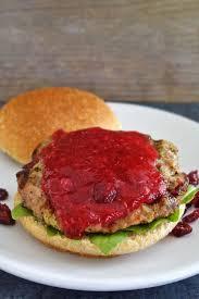 thanksgiving turkey burger recipe delicious cranberry burger