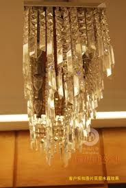 modern brief fashion lustre rectangle crystal chandelier art