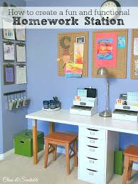 Kid Station Computer Desk Homework Station Clean And Scentsible