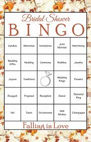 30 falling in love bridal bingo cards fall bridal shower bingo