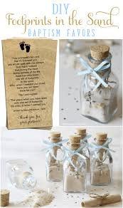 christening favor ideas diy footprints in the sand baptism favors beautiful prayers
