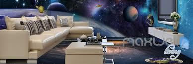 3d universe galaxy planets sky entire living room wallpaper wall 3d universe galaxy planets sky entire living room wallpaper wall mural art decor prints idcqw