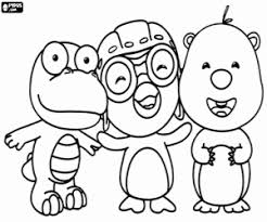 pororo coloring pages coloring pages ideas