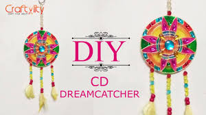 recycle cd into wall decore diy catcher cd craft