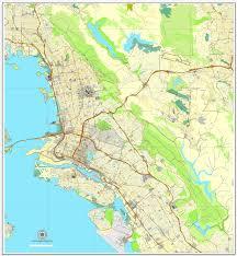 california map pdf oakland berkeley california us vector map adobe pdf editable