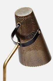 set de table originaux eperon black and brass table lamp with perforated shade lights