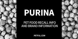purina pet food recall info petful