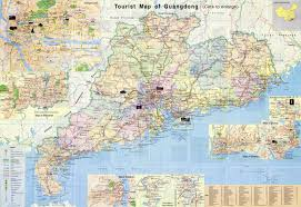 Chinese World Map by Guangdong Maps City Attraction River