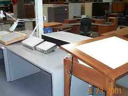 Mayline Oak Drafting Table Used Light Table Box Hopper S Drafting Furniture